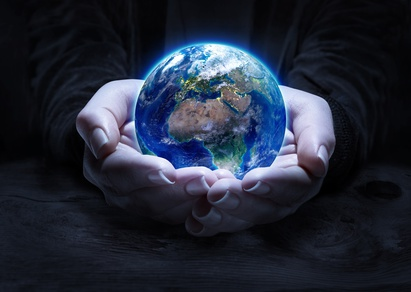 earth in hands - environment protection concept